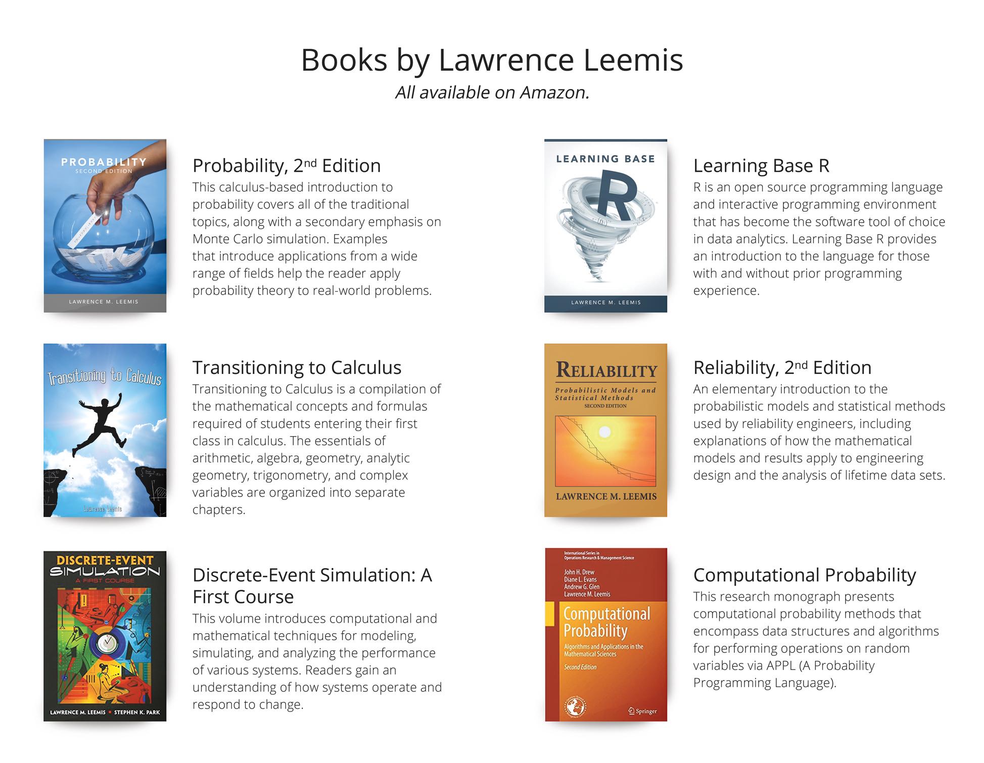 Larry Leemis - Home Page